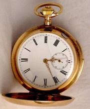 карманные трехкрышечные часы