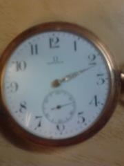 Старинные карманные швейцарские часы Омега