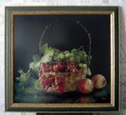 Картина «Изобилие  » ручная работа,  вышивка.Торг уместен